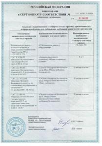 3. Приложение к сертификату соответствия Alfa Laval. Лист 2