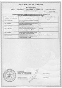 4. Приложение к сертификату Danfoss. Лист 3