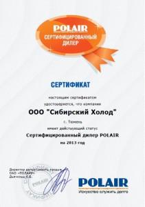 6. Сертификат партнерства POLAIR